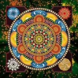 wand art decor Mandala voller muster diamant malerei mit holzrahmen fz001