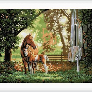 horser picture diamond painting 2015 new hot photo GZ024