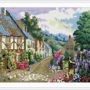 diy diamond painting village landscape 2015 new hot photo GZ027