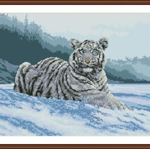 DIY diamond home canvas painting animal tiger photo GZ084