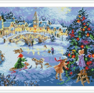 diamond mosaic painting factory christmas tree photo GZ099