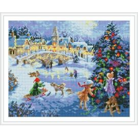 diamant mosaikmalerei fabrik weihnachten baum foto gz099