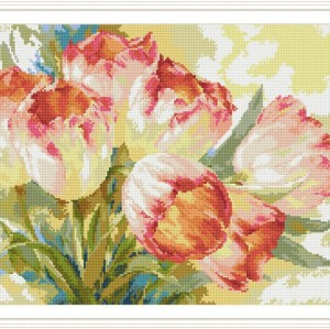 Diy diamond painting tulip flower hot photo for living room decor GZ114