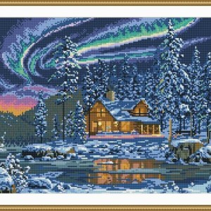 5d new hot sale diy crystal diamond mosaic painting abstract village landscape GZ056