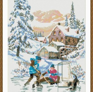 new hot sale diy crystal diamond mosaic painting snow landscape GZ059