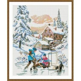 neue heiße verkauf diy kristall diamant mosaikmalerei Schneelandschaft gz059