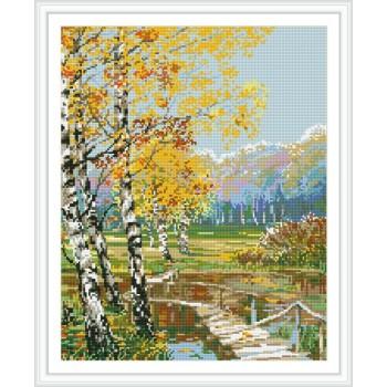 abstrakte diamant malerei naturel Landschaft für Wohnzimmer dekor gz110