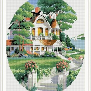 diy diamond painting village landscape 2015 new hot photo GZ026