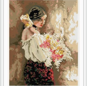 women photo diy diamond painting for room decoration 2015 new hot photo GZ035