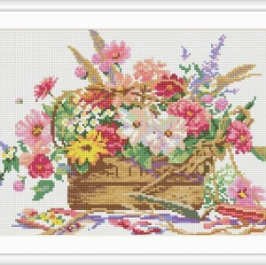flower picture new hot sale diy crystal diamond mosaic painting GZ062