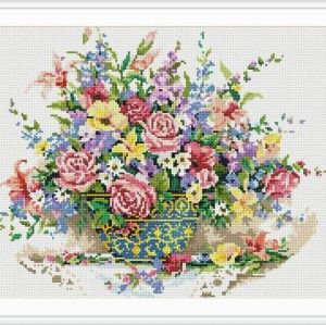 flower picture new diy crystal diamond mosaic painting GZ063