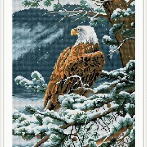 mosaic diamond painting animal hawk photo yiwu factory GZ073