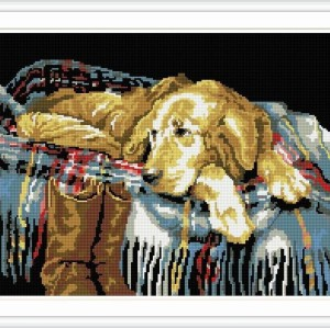 mosaic diamond painting animal dog photo yiwu factory GZ072