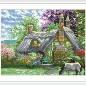 DIY diamond home canvas painting factory hot landscape photo GZ095