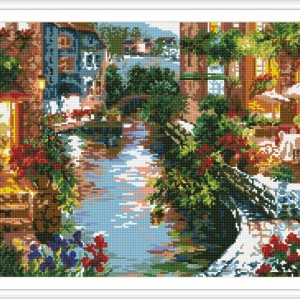 DIY diamond home canvas painting city landscape GZ091