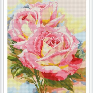 diamond mosaic painting factory new hot red rose flower photo GZ100
