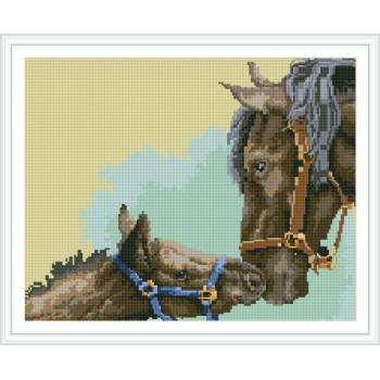 diamanten abstrakte malerei pferd Bild für Wohnzimmer dekor gz109