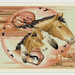 diamond painting horse picture yiwu factory GZ067