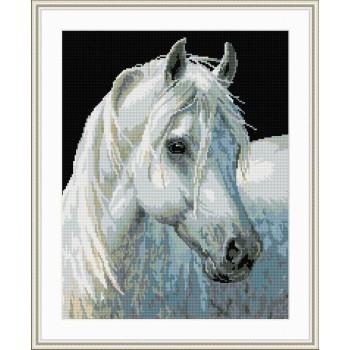 diamant malerei tier weiße pferd foto yiwu fabrik gz069