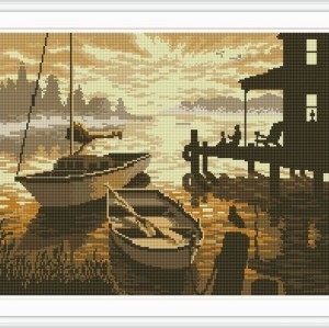 seascape mosaic diamond painting home decor GZ077