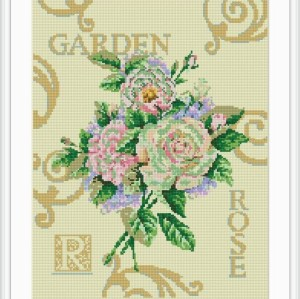 red rose mosaic diamond painting home decor GZ075