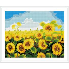 hauptdekoration sonnenblumen diy diamant mosaikmalerei mit holzsockel
