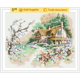Gute qualität gz175 Landschaft 2.5mm voll bohren 3d diamant malerei mit holzsockel