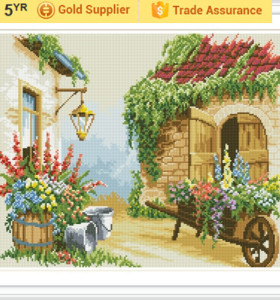 YIWU OEM GZ180 landscape 2.5mm 5D diamond painting by number for home decor