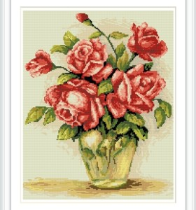 YIWU manufacturer GZ178 fower 2.5mm full diamond painting by number for home decor