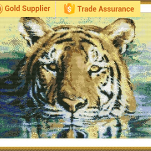 GZ137 tiger 2.5mm full round diamond painting sets for masaic
