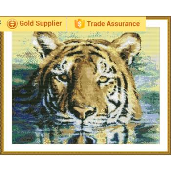 Gz137 tiger 2.5mm vollen, runden diamant malerei sets für masaic