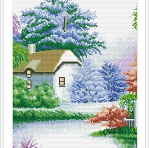 GZ124 OEM paintboy russian landscape handmade 5D diamond painting sets