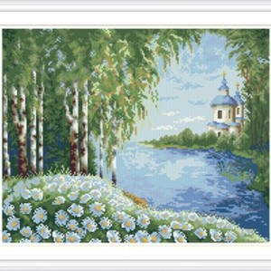 GZ220 landscape full pattern round diamond painting for home decor