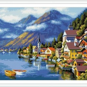 GZ230 landscape diamond painting christmas DIY set for livingroom decor