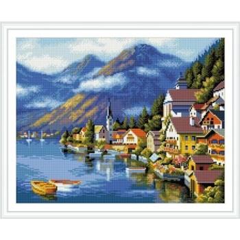 gz230 Landschaft diamant malerei weihnachten diy für Wohnzimmer dekor