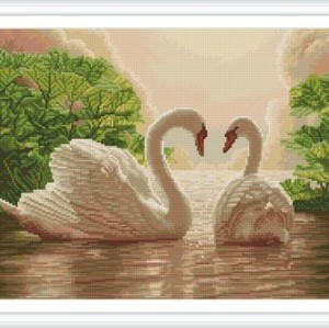 GZ246 swan diy diamond painting for home decor
