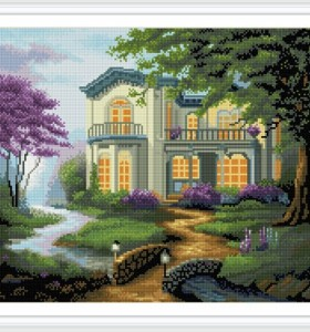 GZ256 new product resin diamond painting by numbers with wooden frame