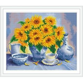 Gz265 wanddekoration sonnenblumen 2.5mm runde diamant malerei für den großhandel