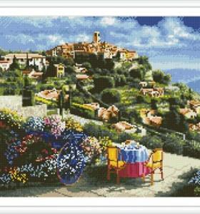 GZ293 landscape embroidery kit diamond painting yiwu art suppliers