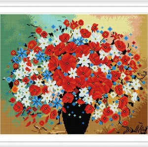 GZ296 flower full pattern resin diamond painting for home decor