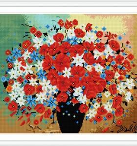 GZ296 flower full pattern resin diamond painting for home decor