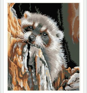 GZ306 animal full pattern diamond painting on stretched canvas