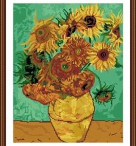 GZ222 sunflower in vase diy crystal diamond painting