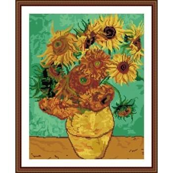 gz222 sonnenblumen in der vase diy kristall diamant malerei