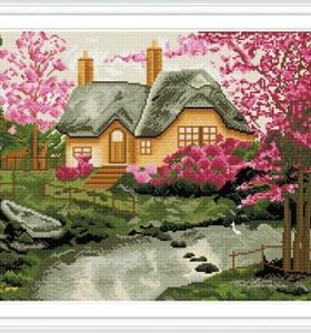 GZ238 wall art landscape diamond painting for living room decor