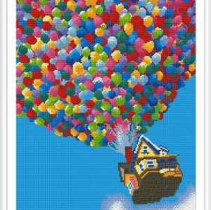 paint boy resin balloon diy diamond painting with wooden frame GZ311