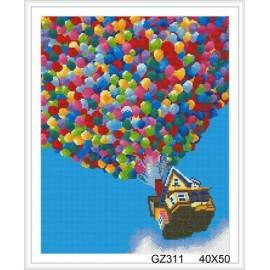 malen Junge harz ballon diy diamant malerei mit holzrahmen gz311