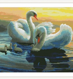 GZ257 swan crystal diamond crafts for home decor