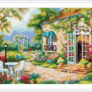 GZ258 landscape diamond embroidery painting on canvas