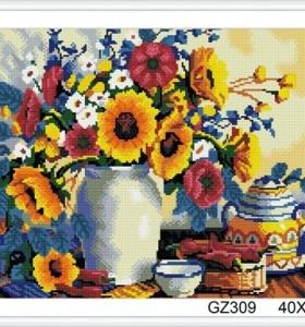 paint boy sunflower diamond painting for wall decor GZ309